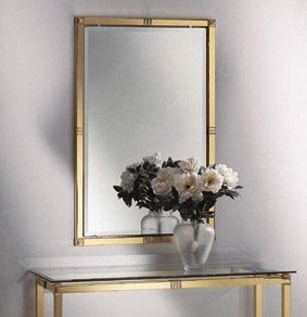 AMADEUS 3092 MIROIR, Miroir classique, en laiton poli et laiton poli