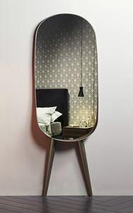 ANJA, Miroir ovale, avec jambes