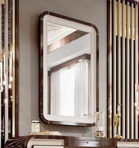 ART. 3375, Miroir avec cadre en eucalyptus et d�tails en cuir