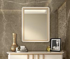 Art. 5612, Miroir avec cadre en bois laqu�