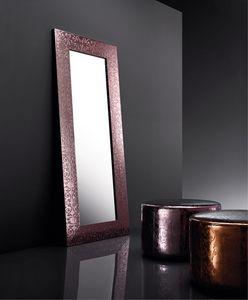 ART. 802 BEAUTY MIRROR, Miroir avec cadre en cuir r�g�n�r�, diff�rentes couleurs