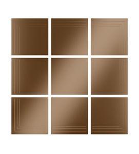 City specchio, Miroir modulaire, couleur bronze