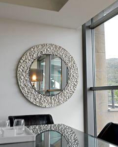 Cliff 329, Miroir rond, avec cadre en cristal