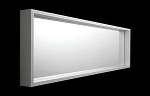Extra Large, Miroir rectangulaire avec cadre en aluminium
