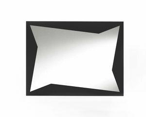 Flash, Miroir décoratif avec inserts en tôle