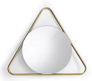 Frame T, Miroir rond avec cadre triangulaire