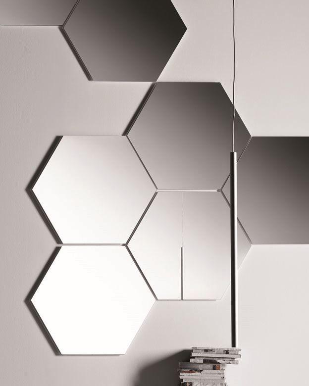 Geometrika hexagonale, Miroirs hexagonaux modulaires, sans cadre