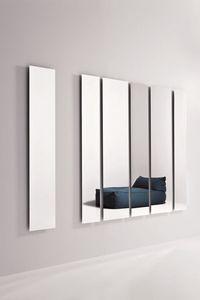 Geometrika rectangulaire, Miroirs rectangulaires, accessoirisée avec périmètre éclairage LED