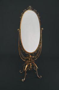 HF2008MI, Miroir de comptoir avec cadre en fer