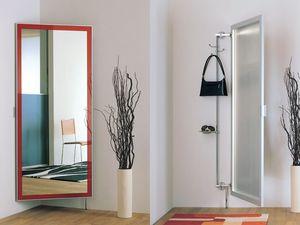 k101 nascondino, Miroir avec cintres clother et compartiment de rangement