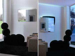k198 visual bw, Miroir avec panneau arrière avec éclairage LED