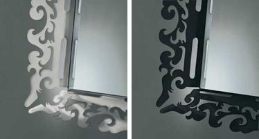 k199 mirror, Miroir avec cadre décoré en plexiglas