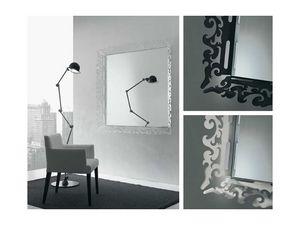 k199 mirror, Miroir avec cadre d�cor� en plexiglas