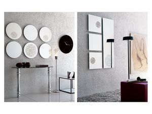 k201 frill, Miroir sans cadre, montage mural