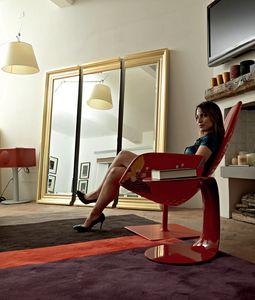 Lawrence tre 204, Miroir triptyque avec cadre en bois