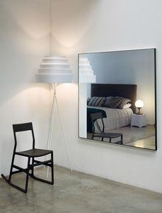 Leggero 116N, Miroir avec profil en aluminium