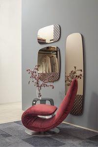 MARGUERITE, Miroir argenté ou bronze, différentes tailles