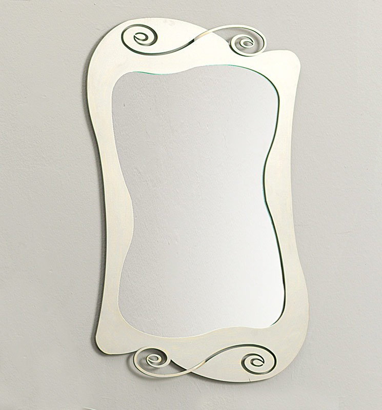 Mirò mirror, Miroir avec cadre en fer incurvée