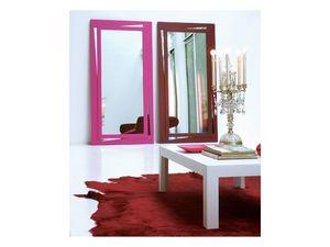 Vanessa, Miroir rectangulaire avec cadre laqué