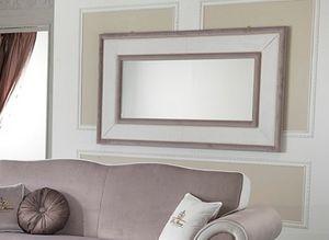 MORFEUS Miroir, Miroir rectangulaire avec cadre couvert