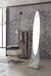 NARCISO SSC04, Miroir au sol, ovale, frameless