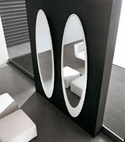 OLMI, Miroir décoratif Elliptique, cadre sérigraphié, salon