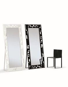 Otto, Miroirs rectangulaires, avec un design moderne, idéal pour les commerces et la maison