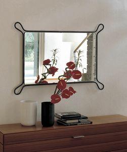 Pass, Miroir avec cadre en fer