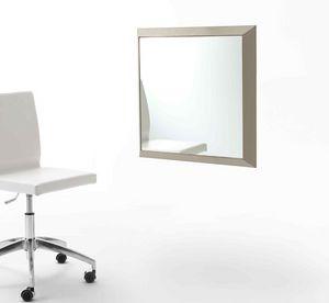 Rex Q, Miroir avec cadre recouvert de cuir, de diverses couleurs