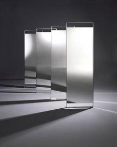 Ring mirror, Miroir design avec structure en acier chromé