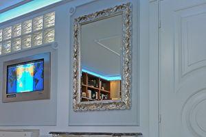 Salice miroir, Miroir finement d�cor�, style baroque l�ger