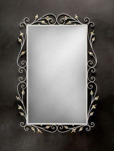 SP/310, Miroir rectangulaire avec cadre en fer forgé