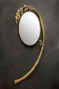 SP/330, Miroir rond avec cadre en arceau en fer forgé