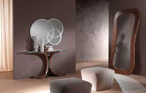 SP24 Morfeo miroir, Miroir en noyer Canaletto, des chambres d'entrée