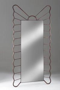 Specchiera Filicudi, Miroir rectangulaire avec cadre en fer forgé