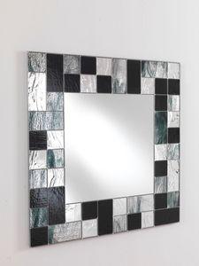 Specchio 05, Miroir carr� avec cadre mosa�que