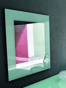 TOSHIMA, Miroir mural, diff�rentes finitions pour la s�rigraphie