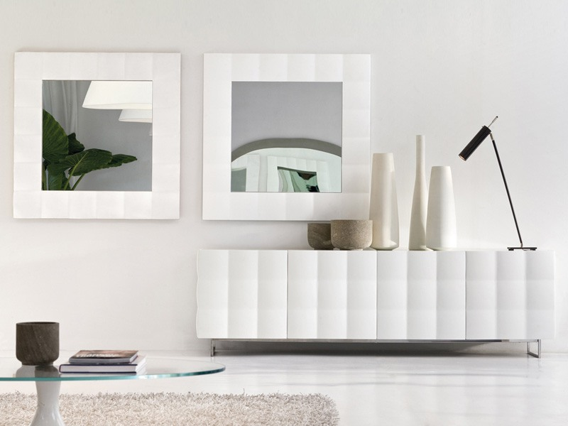 VENICE mirror, Miroir carré avec cadre mat