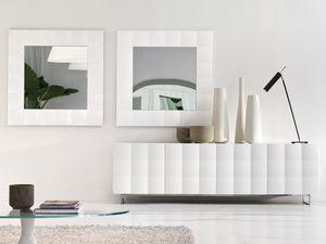 VENICE mirror, Miroir carr� avec cadre mat