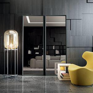 Vittorio 111, Miroir avec profil en aluminium