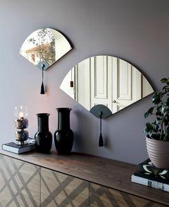 WINDERLY, Miroir en forme d'éventail à motif oriental