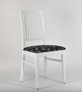 320, Chaise laquée avec assise rembourrée