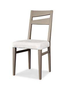 Art. 195/S, Chaise de salle à manger moderne avec assise rembourrée