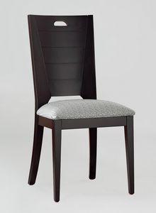 BS132S - Chaise, Chaise en bois de hêtre massif