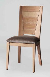 BS133S - Chaise, Chaise en bois de hêtre massif