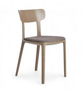Canova, Chaise en polypropyl�ne avec assise rembourr�e