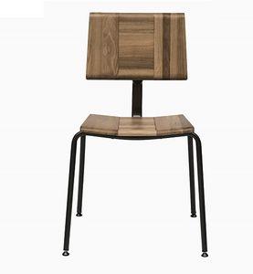 EAGLE A01, Chaise empilable avec assise et dossier en chêne massif