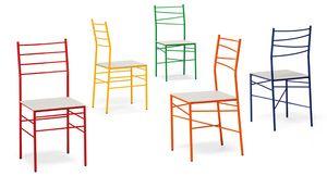 Ginger, Chaise ignifugée avec assise en cuir ou en feutre
