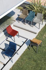 HOUSTON SE621, Chaise avec rembourrage bicolore