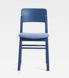 Pop, Chaise en bois avec assise rembourrée